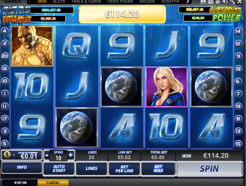 free slot machine fantastic four
