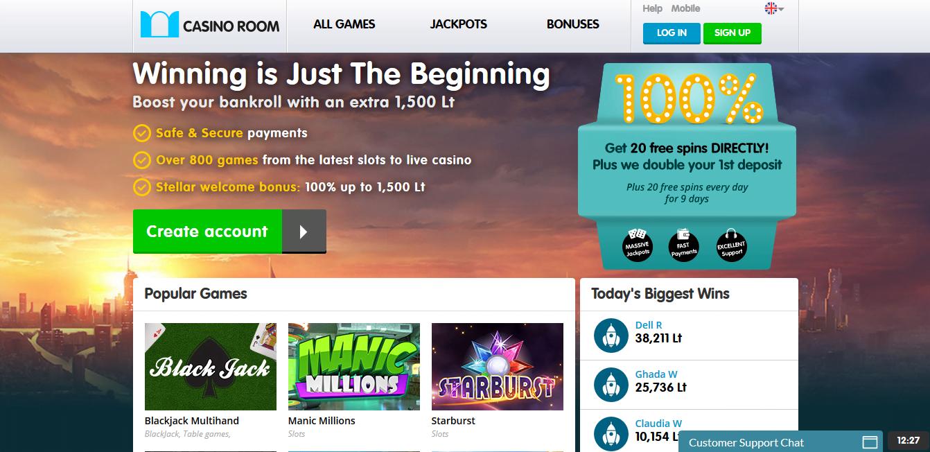 CasinoRoom Freespins