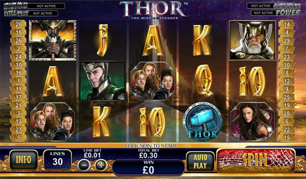 Thor the mighty Avenger review slot bonus free spins