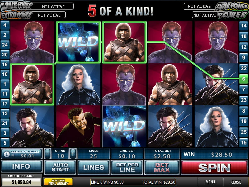 X Men Slot bonus free spins