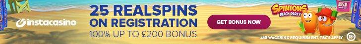 InstaCasino free spins no deposit no wager