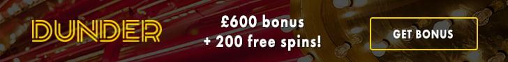 Dunder Casino Welcome free spins bonus